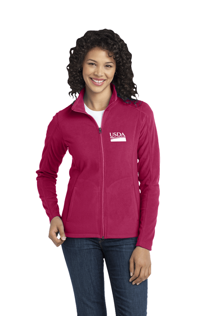 Ladies Microfleece Full Zip Jacket L223