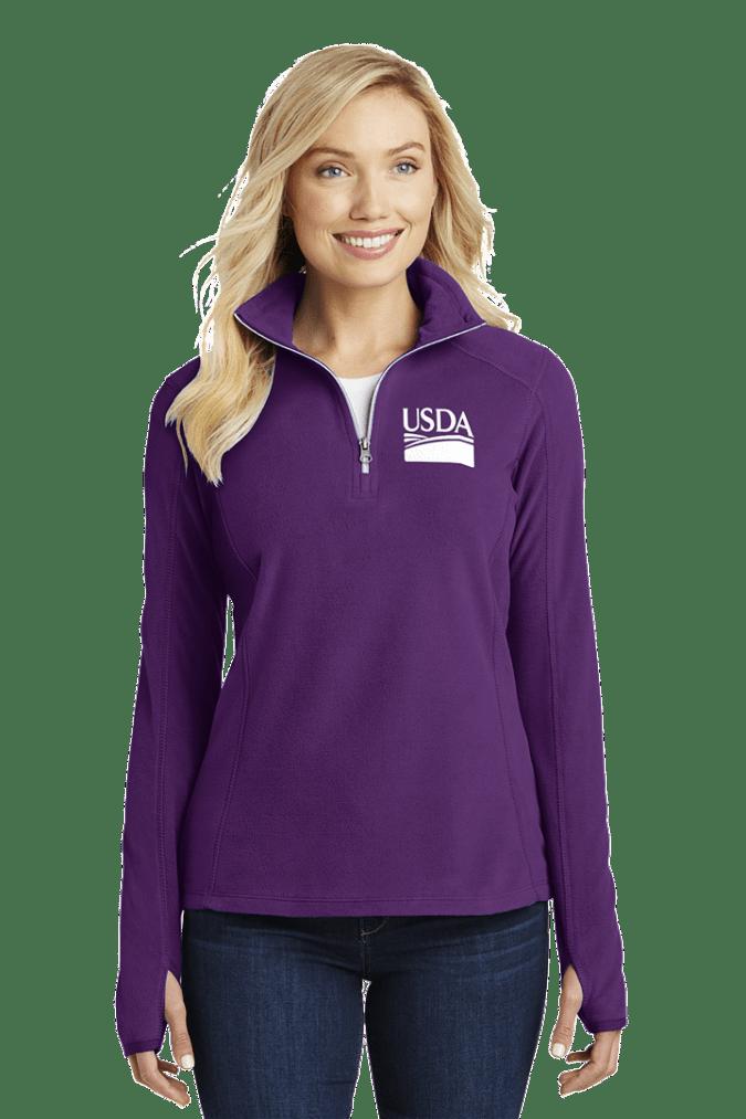 Ladies' Half-Zip Microfleece Pullover L224