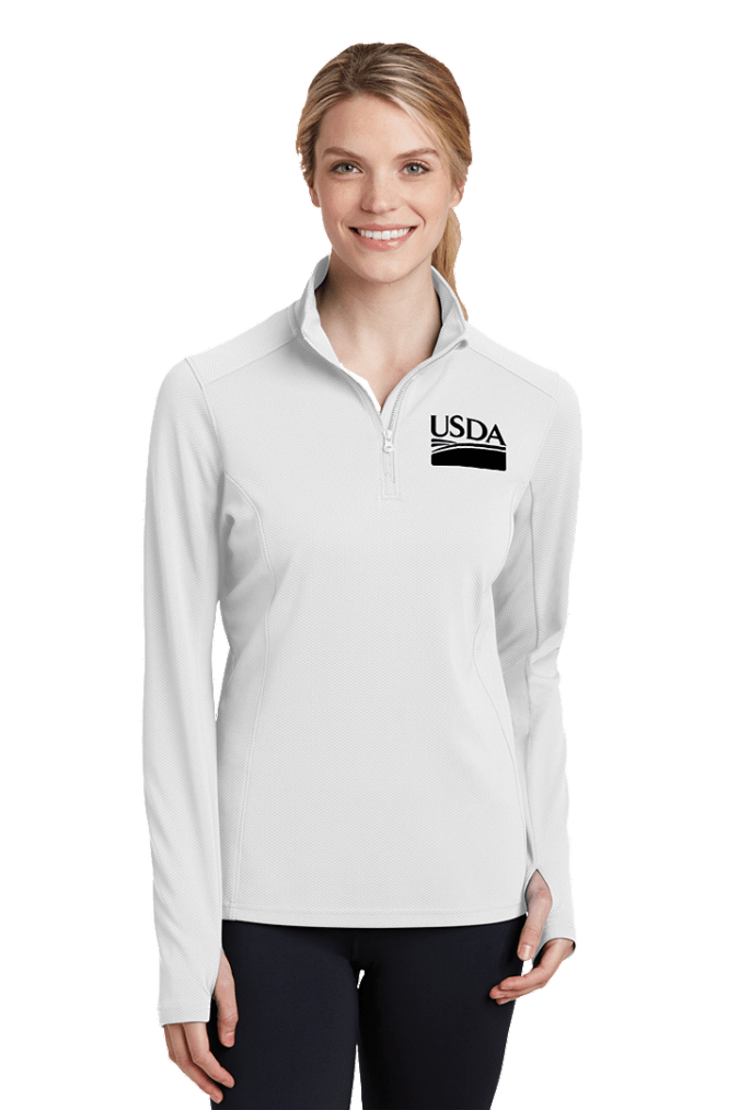 Ladies Sport-Wick Textured 1/4-Zip Pullover