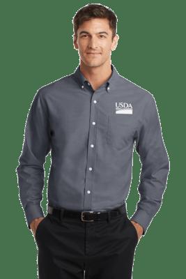 Men's Long Sleeve Oxford Dress Shirt