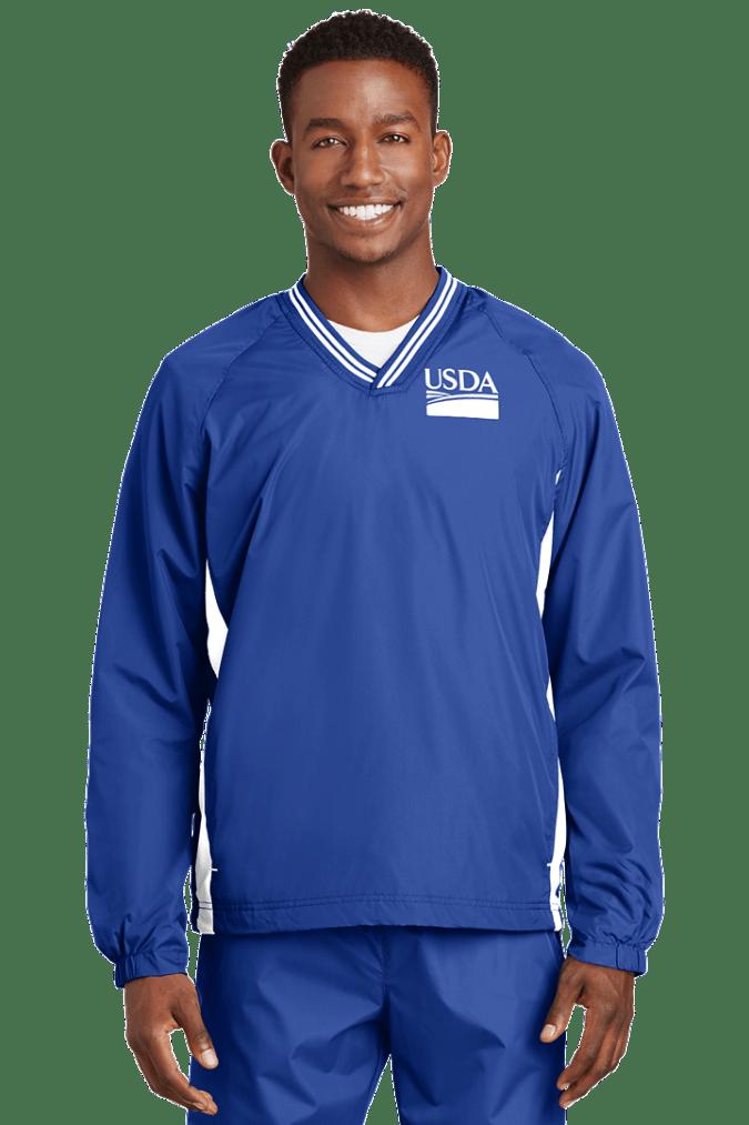 Unisex Tipped V-Neck Raglan Wind Shirt JST62