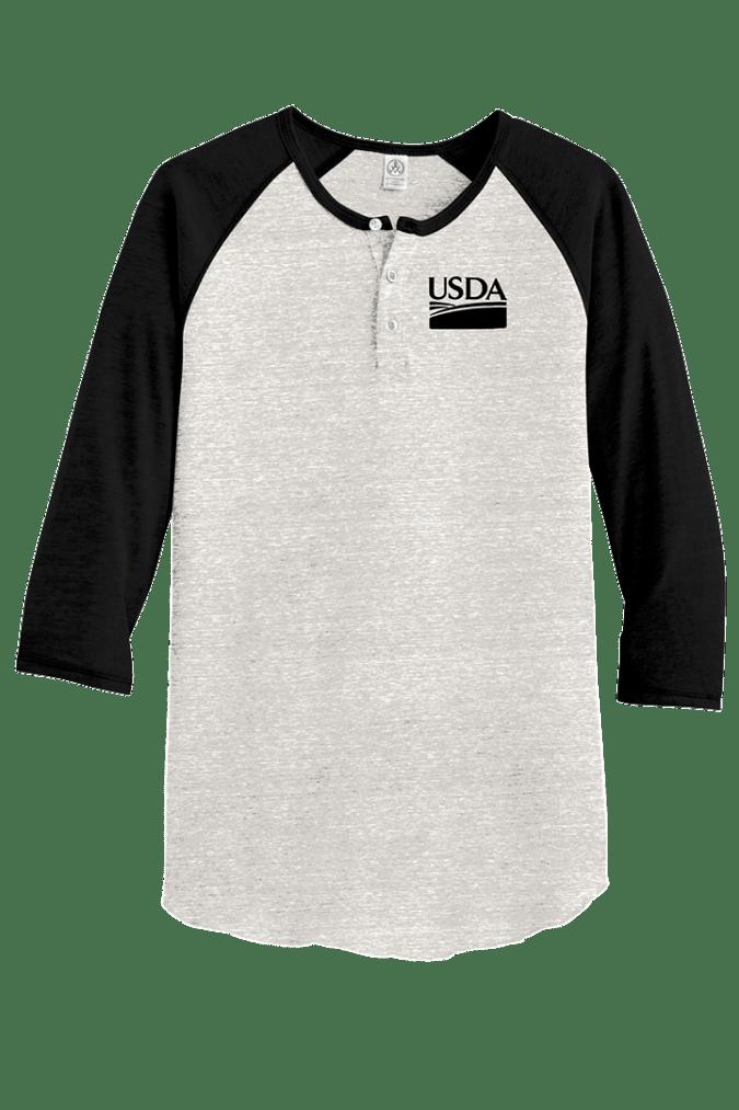 Unisex Alternative Eco-Jersey 3/4-Sleeve Raglan Henley AA1989