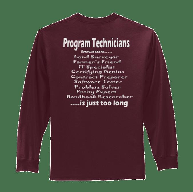 "Long Sleeve Program Technican PC61LS ""PT"""