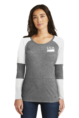 New Era Ladies Tri-Blend Performance Baseball Tee