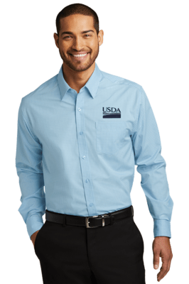 Micro Tattersall Easy Care Dress Shirt