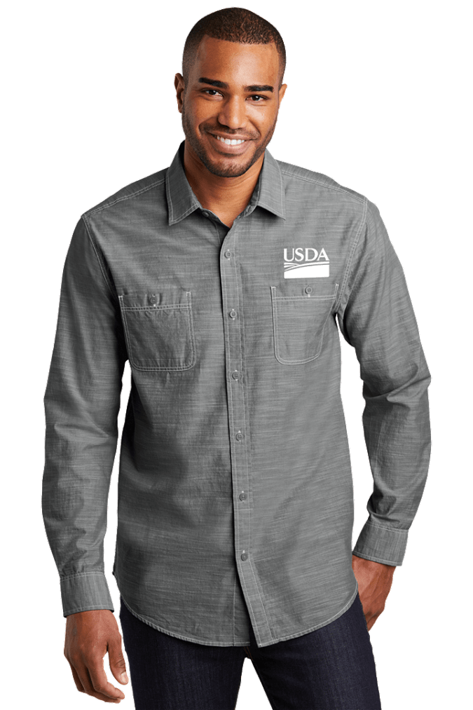 Men's Slub Chambray Shirt