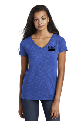 District Women's Medal V-Neck Tee