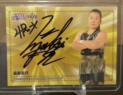 Mizuki Endo (aka Eiger) 2017 BBM Joshi True Heart Autograph /95