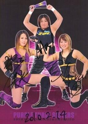 Io Shirai, Mio Shirai, and GAMI Signed Photograph (A4 Size)