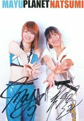Mayu Iwatani and Natsumi Showzuki Signed Photograph (A4 Size)