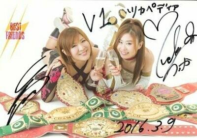 Best Friends (Tsukasa Fujimoto and Arisa Nakajima) Signed Photograph (A4 Size)