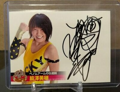 Miho Wakizawa 2013 Stardom Official Card Set Autograph