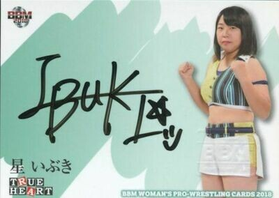 Ibuki Hoshi 2018 BBM Joshi True Heart Autograph /90