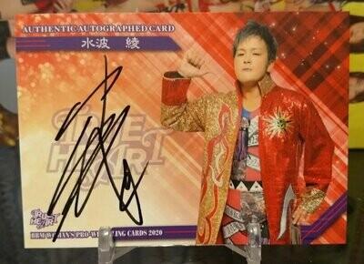 Ryo Mizunami 2020 BBM Joshi True Heart Autograph /93