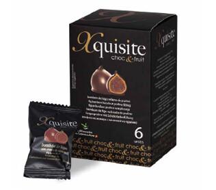 Bombones de Higos Secos - Xquisite Choc&Fruit -, recubiertos de Chocolate Negro, 6 Unid, 120 g Xquisite - Gourmet by Beites