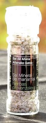 Molinillo de Sal mineral de Manantial con Hierbas Provenzales, 75 g - Gourmet by Beites