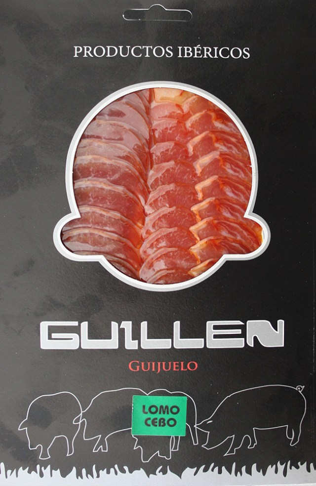 Loncheado Lomo Ibérico Cebo - Peso aproximado: 100 g. GUILLEN-121