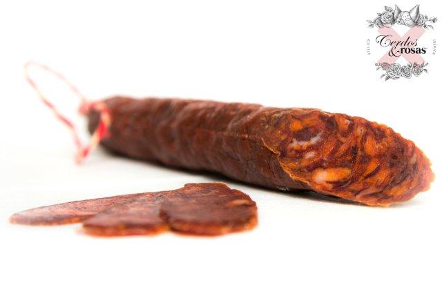 Cerdos y Rosas: Chorizo Vela Ibérico de Bellota. Peso aproximado 200g CR-Ch-Ve-Ib-Be-01