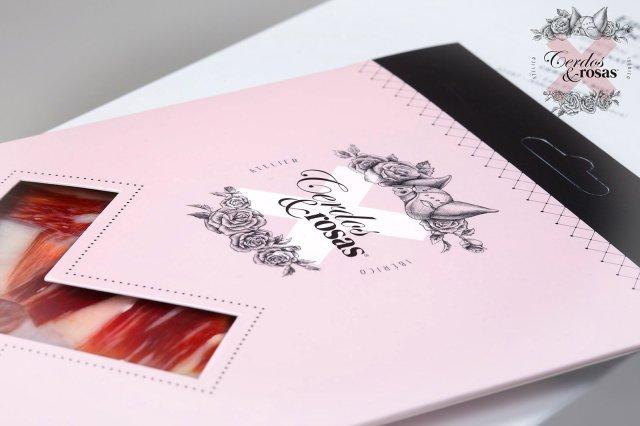 Cerdos y Rosas: Loncheado de Jamón Ibérico de Bellota. 5 Blíster 90 gramos / unidad CR-Bl-Ja-Ib-Be-01
