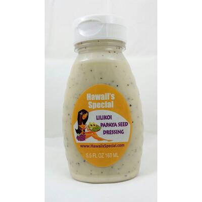 Lilikoi Papaya Seed Dressing, 5.5 oz