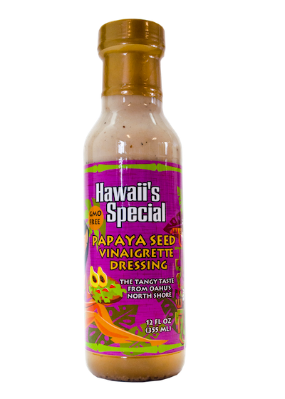 Papaya Seed Vinaigrette Dressing - GMO Free, 12 oz