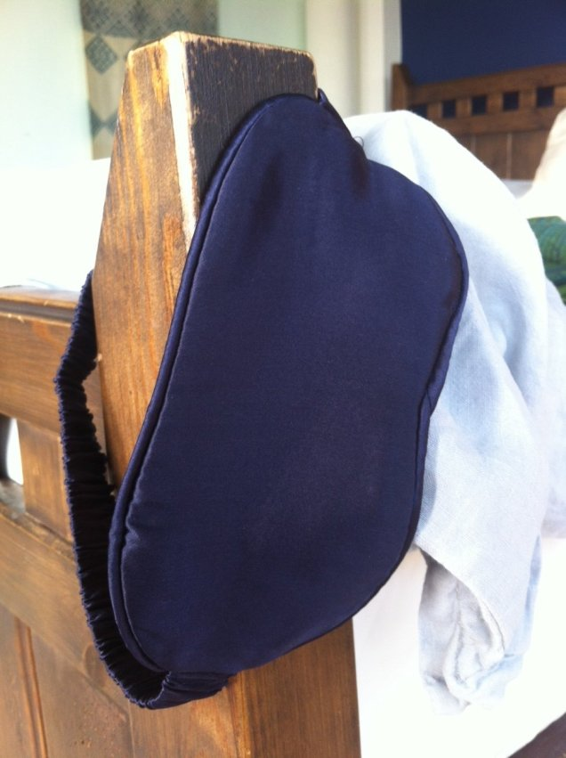 Dark blue sleep mask