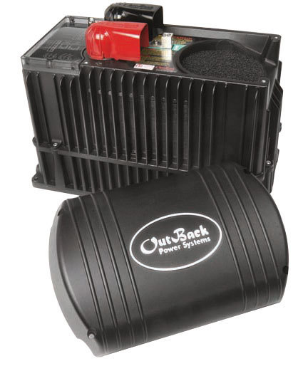 Outback Power VFXR3048E with lithium ion battery fxr3048