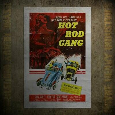 Hot Rod Gang Vintage Movie Poster