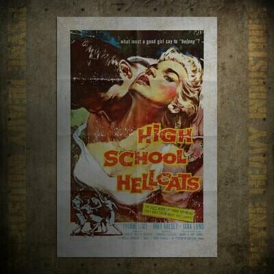 High School Hellcats Vintage Movie Poster