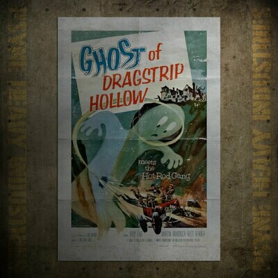 Ghost of Dragstrip Hollow Vintage Movie Poster