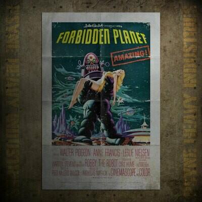 Forbidden Planet Vintage Movie Poster