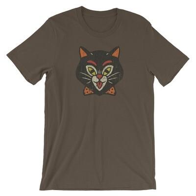 1950s Halloween Cat Vintage T-Shirt