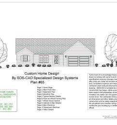 5 complete house plans construction blueprints autocad dwg and pdf  [ 2448 x 1583 Pixel ]