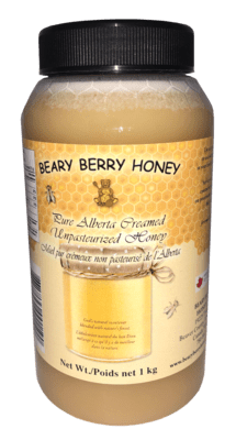 1 kg Pure Alberta Creamed Honey - Plain
