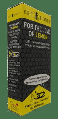 For the Love of Lemon Honey Shots