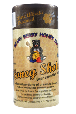 Pure Alberta Creamed Honey Shots
