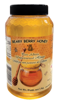 1 kg Pure Alberta Liquid Honey - Plain