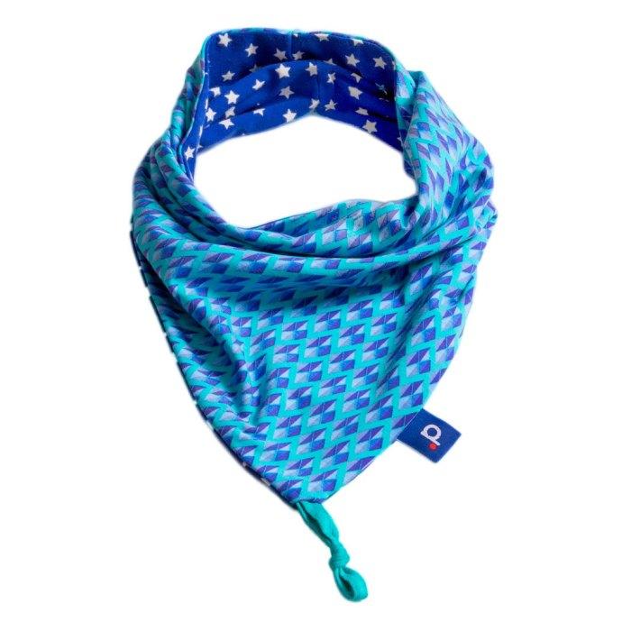 Snood enfant bleu motifs losanges en jersey de 2 à 5 ans PE16-028-S