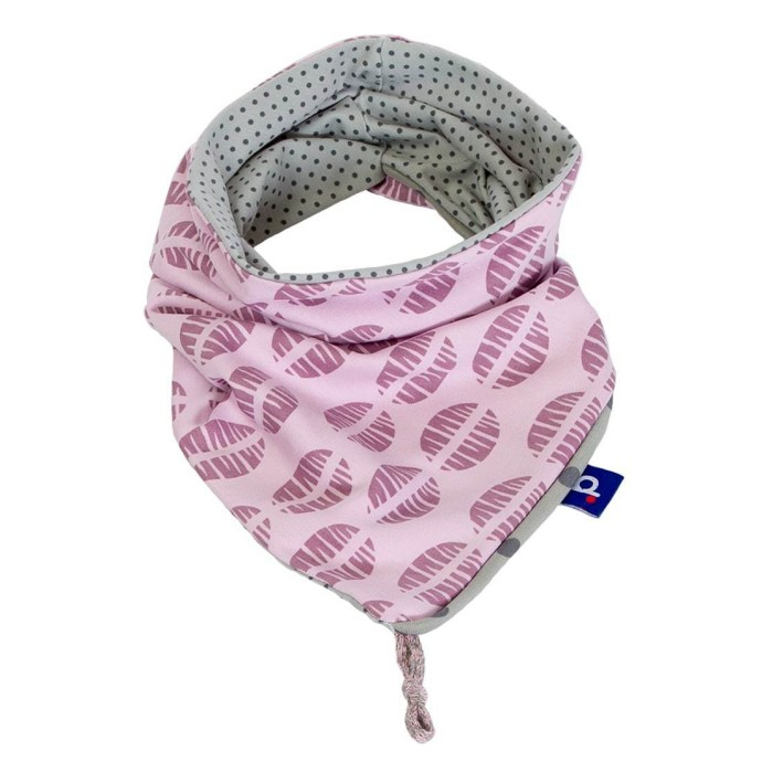 Snood fille rose à pois en jersey gris et rose 6-12 ans SP-17011-M