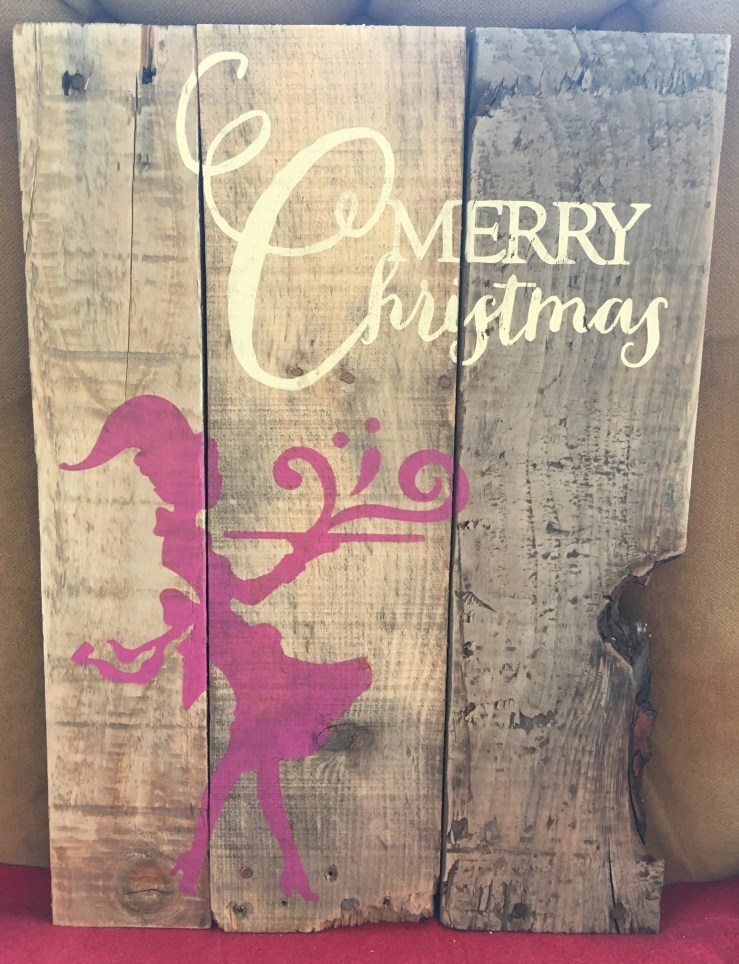 Pallet Sign - Merry Christmas C2