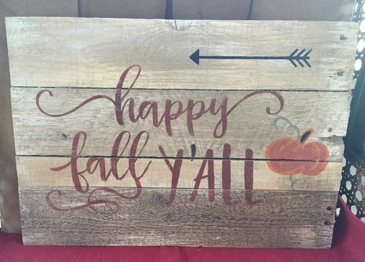 Pallet Sign - Happy Fall Y'all F1