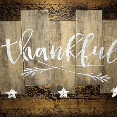 Pallet Sign - Thankful