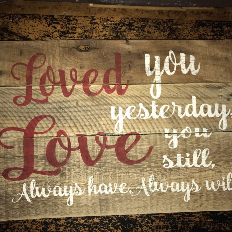 Pallet Sign - Loved You