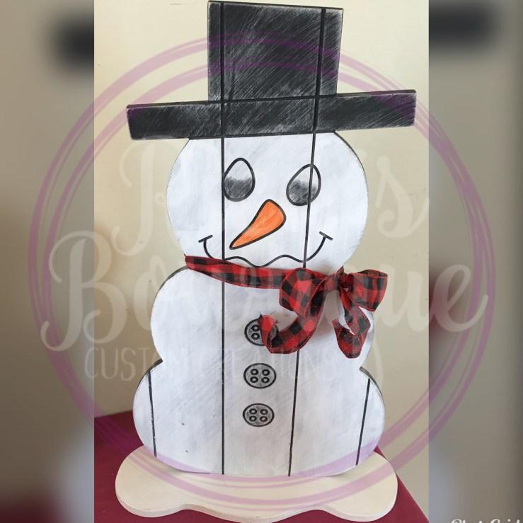 Unpainted Snowman