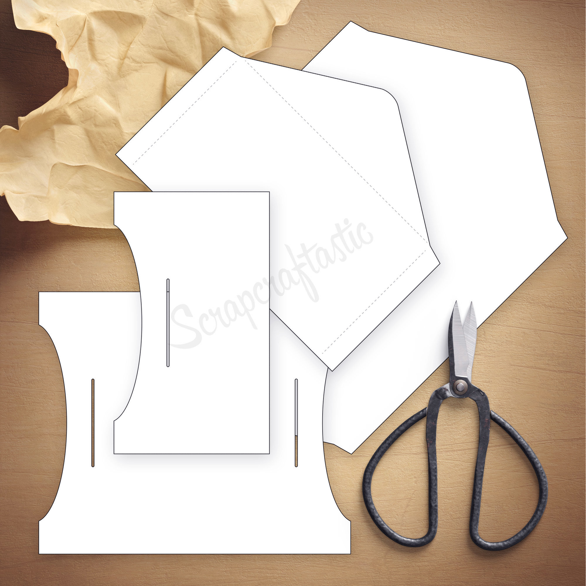 Double Envelope Pocket Size Traveler's Notebook Insert Template & Cut Files 07013