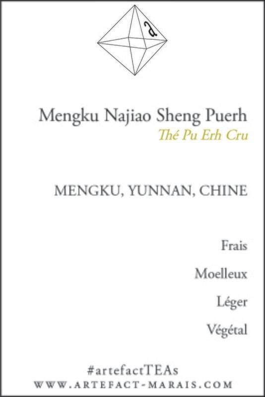 Mengku Najiao Sheng Puerh : Paquet de 25g