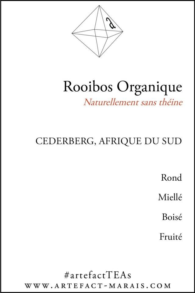 Rooibos Rouge Organique : Naturellement sans théine, Paquet de 100g