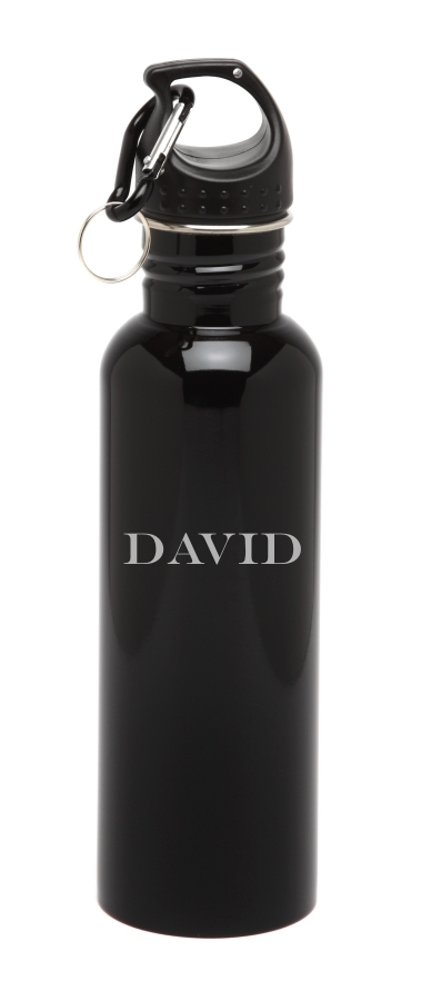 Personalized Water Bottle Stainless Steel Water Bottle Horizontal Name SSWB-101
