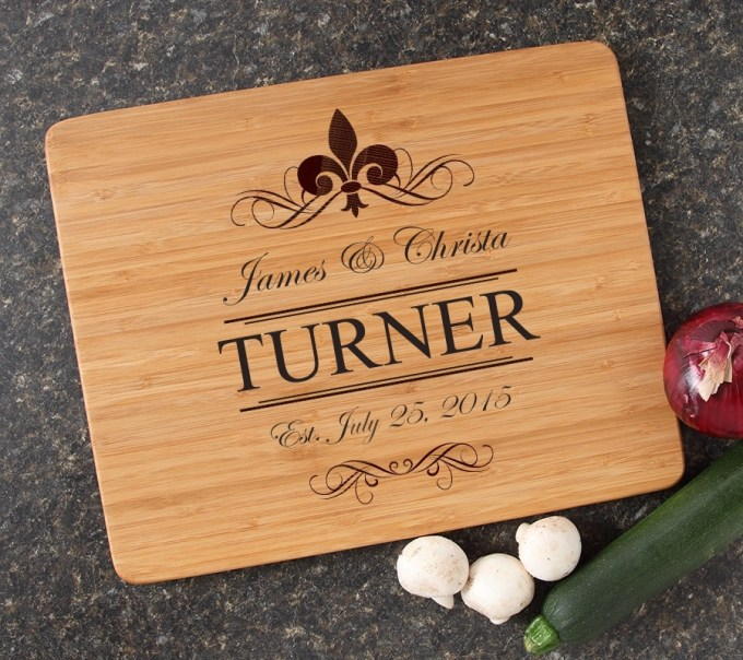 Engraved Bamboo Cutting Board Personalized 15x12 DESIGN 20 CBB-020