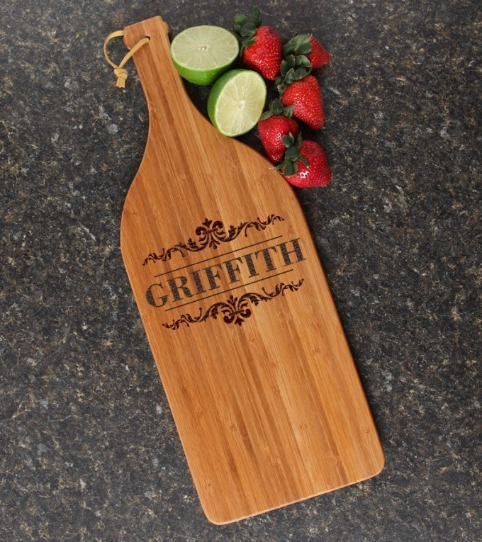 Personalized Cutting Board Engraved Bamboo 16 x 5 DESIGN 16 CBD-016